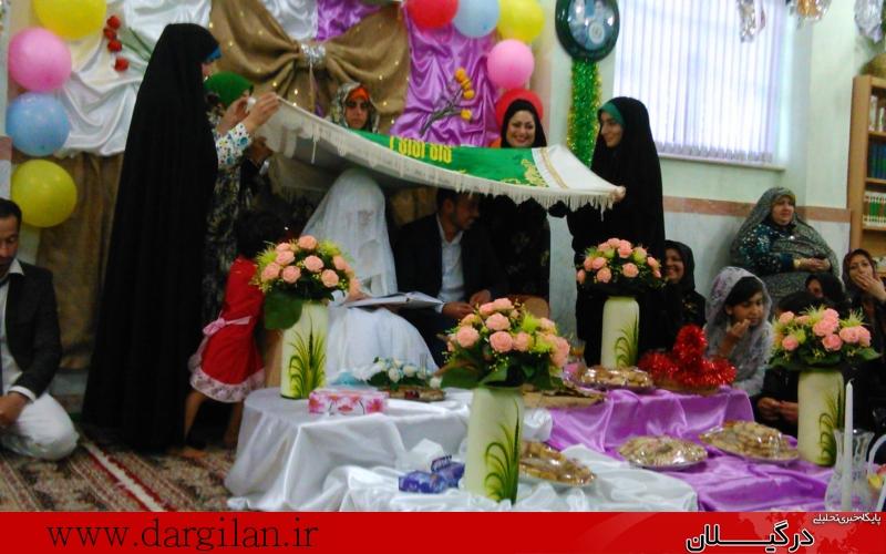 مراسم عقدکنان زوج جوان شفتی در جوار حرم شهدای گمنام + گزارش تصویری