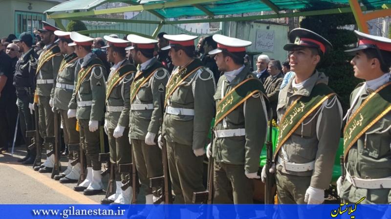 گزارش تصویری مراسم تشییع فرمانده پلیس راه چابکسر با حضور مسئولین گیلان