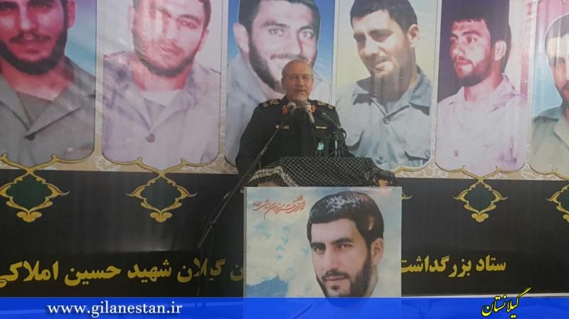 سالگرد شهادت سردار شهید املاکی با سخنرانی سرلشکر رحیمصفوی در لنگرود +تصاویر