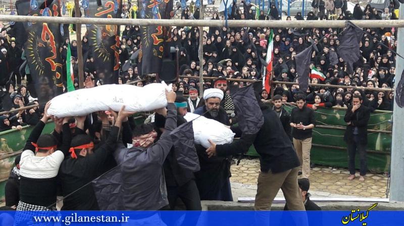 مراسم تشییع دو شهید گمنام در رشت برگزار شد+ گزارش تصویری