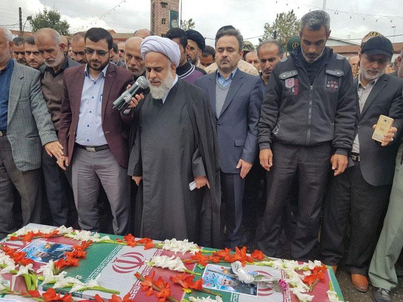 """گزارش تصویری مراسم تشییع پیکر مطهر شهید مدافع حرم """"علیرضا نظری"""" در رودسر"""