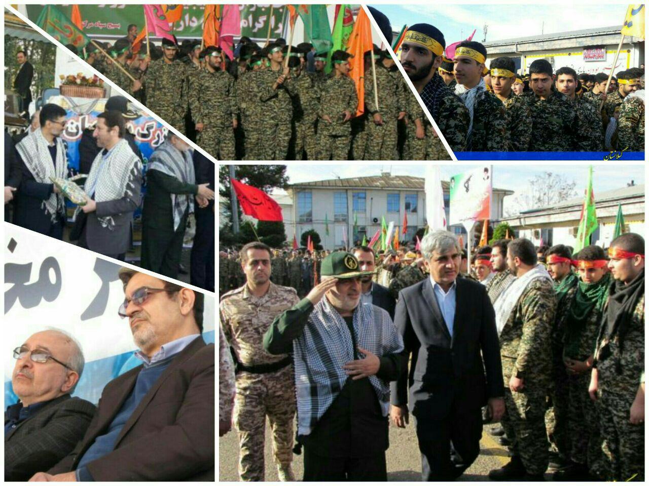 تجمع بزرگ و نماد اقتدار بسیجیان شهرستان رشت+ گزارش تصویری