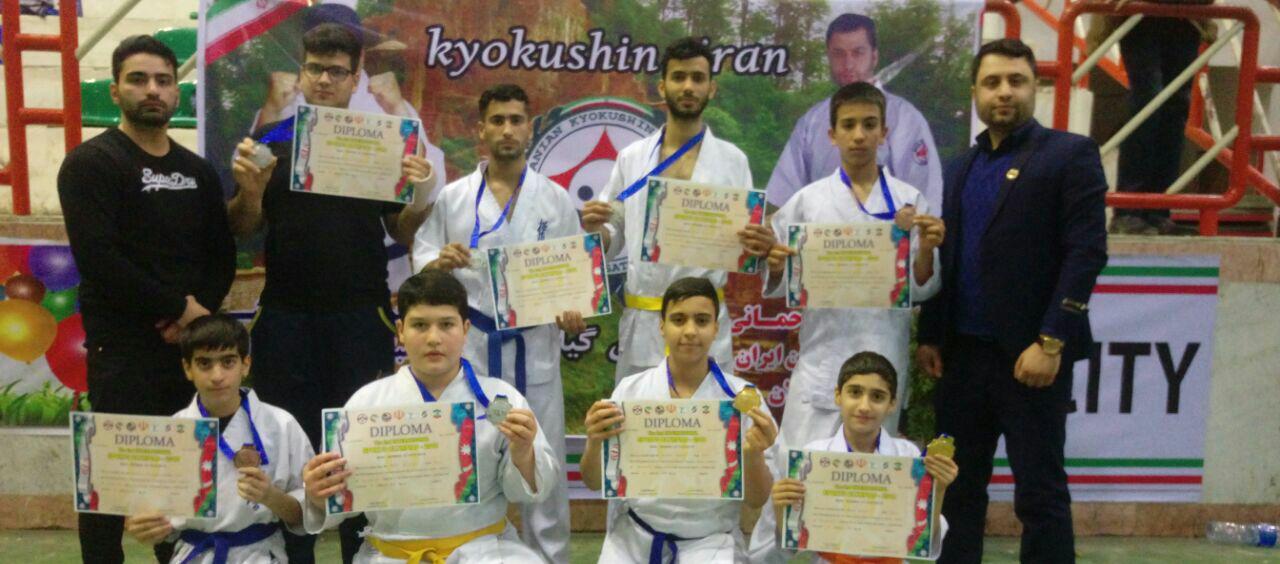 درخشش تیم کیوکوشین گیلان در مسابقات بین المللی + اسامی