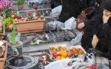 مراسم معنوی تحویل سال 1398 در گلزار شهدای رشت+ گزارش تصویری