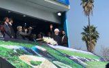غیبت معنادار آیت الله فلاحتی در محل سخنرانی رئیس جمهور در ورزشگاه لاهیجان+ تصاویر
