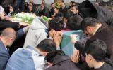 مراسم وداع با دو شهید گمنام 17 و 18 ساله در گلزار شهدای رشت+ گزارش تصویری