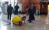 ضدعفونی فرودگاه و دادگاه رشت به همت بسیج سازندگی سپاه رشت+ تصاویر