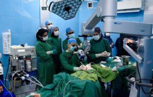 گزارش تصویری/ نخستین جراحی کاشت حلزون شنوایی در گیلان