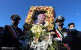 وداع مردم انزلی با آقای خنده گیلان/ گزارش تصویری