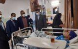 """عیادت سید محمد احمدی """"شهردار رشت"""" از وضعیت کارگر سانحه دیده رفت و روب"""