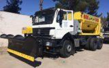 تجهیز ماشین آلات سنگین شهرداری به تیغه های جدید برف روبی