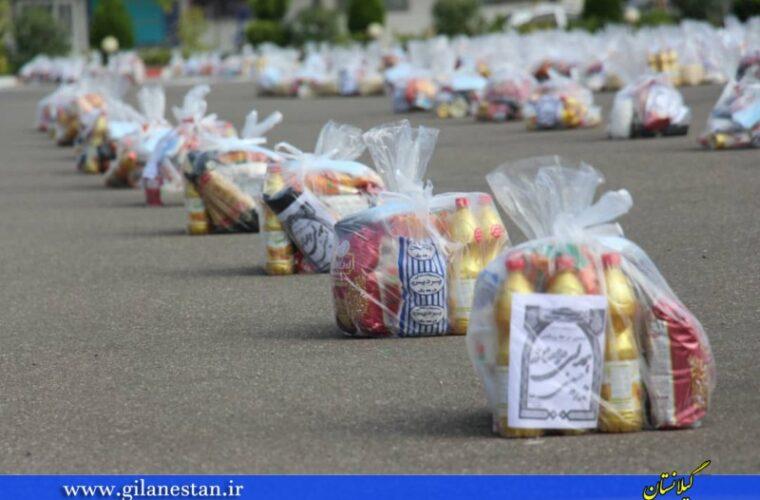 توزیع ۶۰۰ بسته معیشتی میان نیازمندان به همت کارکنان انتظامی گیلان+ تصاویر